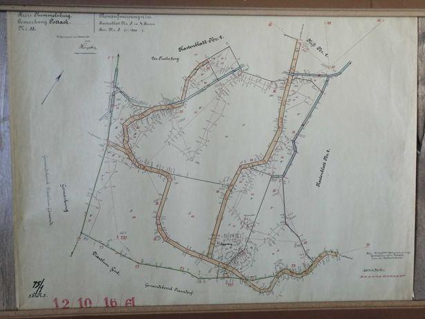 Mapa Rummelsburg - Miastko 1928 skala 1:1500