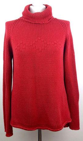 damski czerwony bluzka sweter kardigan Kappahl 42 44 xxl xl tunika