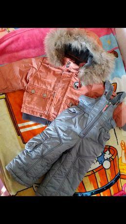 Зимний костюм(куртка+полукомбез)