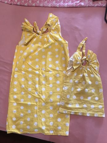 Платье мама/дочка; фемели лук