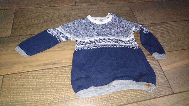 sweter sweterek chłopięcy górski świąteczny h&m 86 92