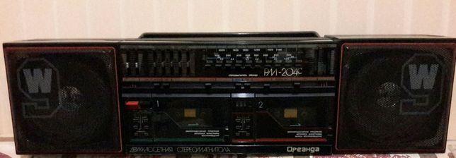 Стереомагнитола двухкассетная