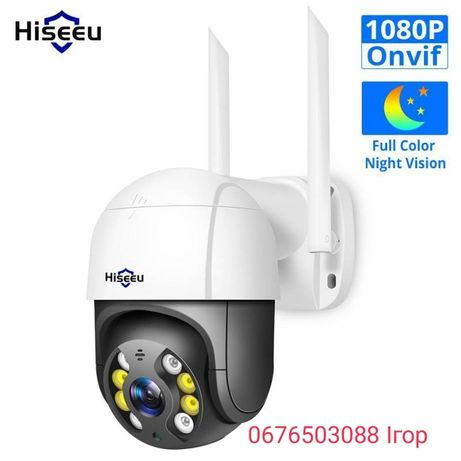 Hiseeu WHD812 купольная камера видеонаблюдения уличная Wifi 1080P