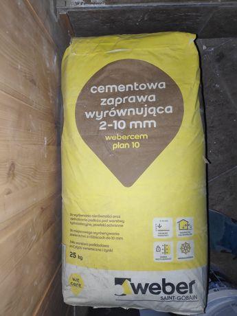 2 szt. Webercem Weber plan 10 cementowa zaprawa wyrównująca 2-10mm