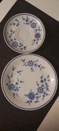 Porcelana Seltmann Weiden Bavaria, talerz + 2 podstawki