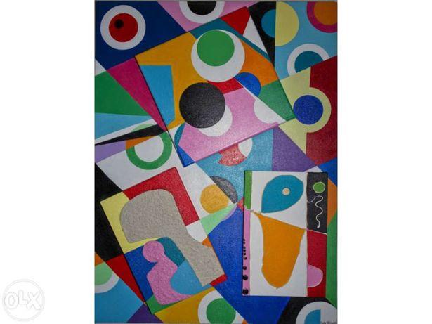 Vendo pintura moderna em acrílico s/tela 60x80cm - Nova