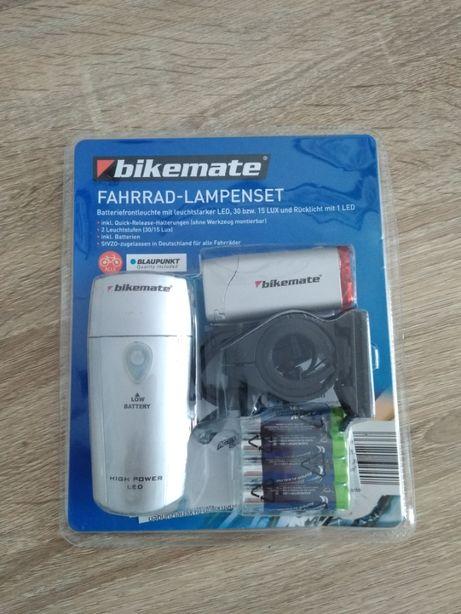 Komplet lampek rowerowych w zestawie z bateriami - okazja, zobacz!