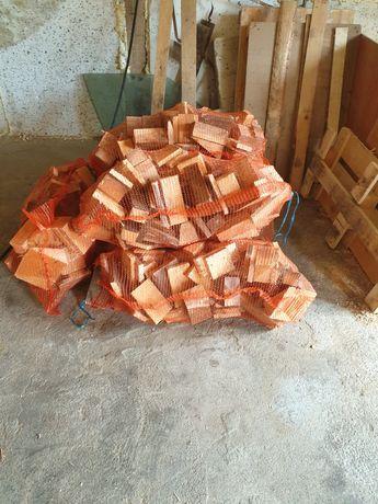 Drewno opalowe,rozpalkowe w workach