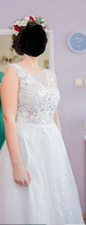 Suknia ślubna w stylu boho buty 38 gratis