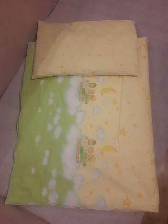 pościel niemowlęca dziecięca 110x85 cm z poduszką