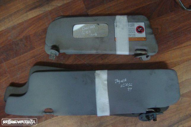 Palas proteção solar Toyota Hiace e Chevrolet Aveo
