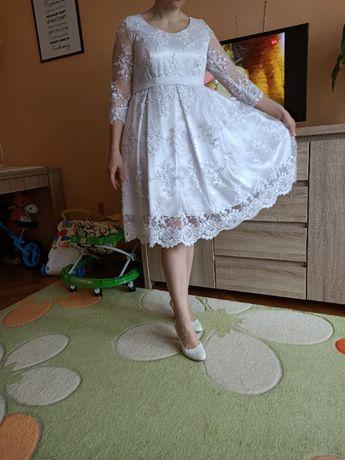 Sukienka ślubna krótka ciąża ciążowa suknia ślubna