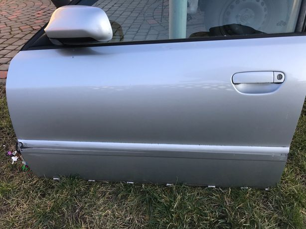 Drzwi przód przednie lewe kompletne audi a4 b5 lift srebrne