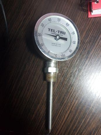 Термометр биметаллический TEL-TRU 0-100 C