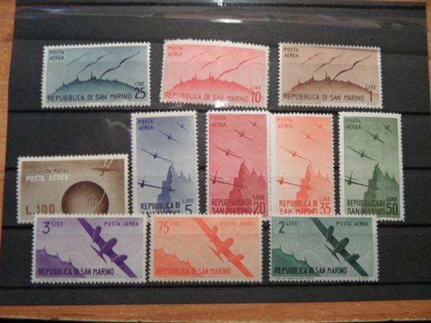 San Marino czyste stare znaczki pocztowe zestaw