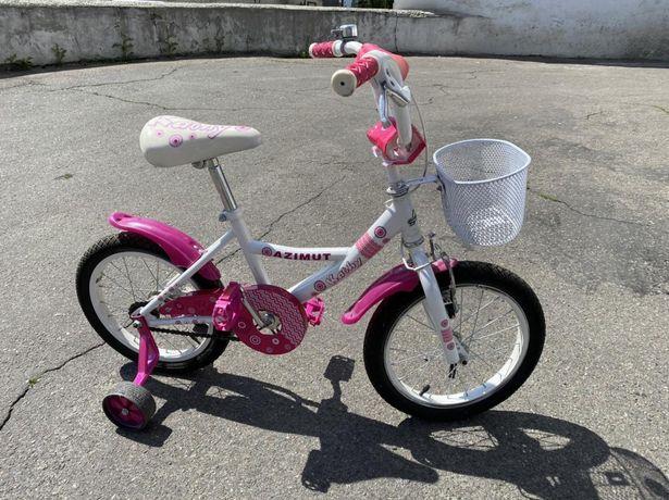 """Детский велосипед Azimut Kathy 16"""" идеальный"""