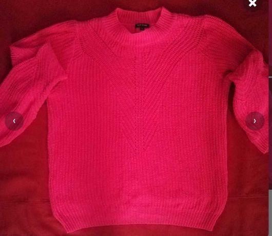 Różowy sweter River Island z suwakiem na plecach