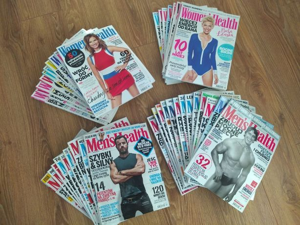 Tanio sprzedam 43 numery pism MEN'S HEALTH i WOMEN'S HEALTH, stan bdb.