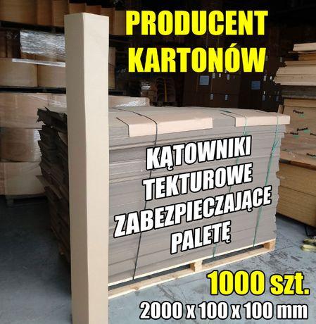 Kątowniki, narożniki tekturowe na przesyłki paletowe, 1000 szt