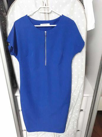 Niebieska sukienka quiosque 38 karmienie