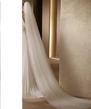 Véu de noiva com duas camadas - tipo Catedral