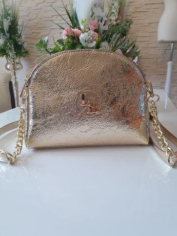 Złota torebka Laura Biaggi