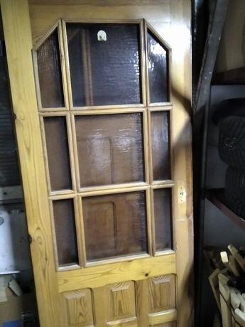 Drzwi drewniane, sosnowe