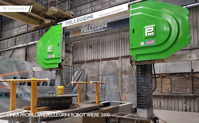 Linka profilowa trak linowy do kamienia pellegrini robot wire 2600