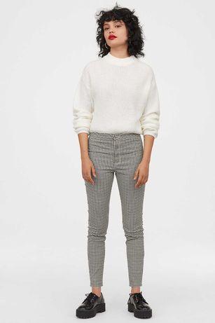 Nowość 2020:) spodnie w pepitkę H&M roz 36 CUDOWNE:)