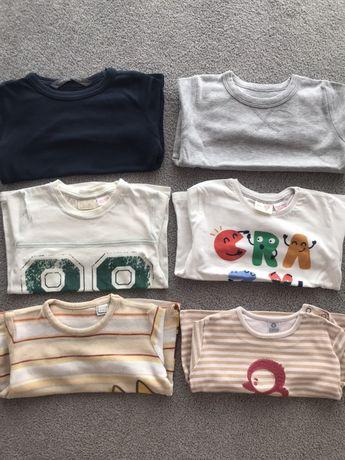 6 sweats / camisolas manga comprida Zara 12/18 meses