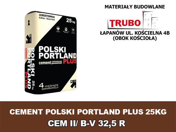 CEMENT polski PORTLAND plus 25KG CEM II/ B-V 32,5 R