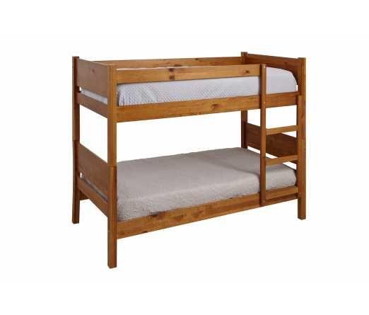 Beliche em madeira com 2 camas e escada