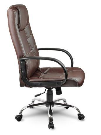 Офисное кресло Eago EG-221 стул кожаный Газлифт ножки хром TILT