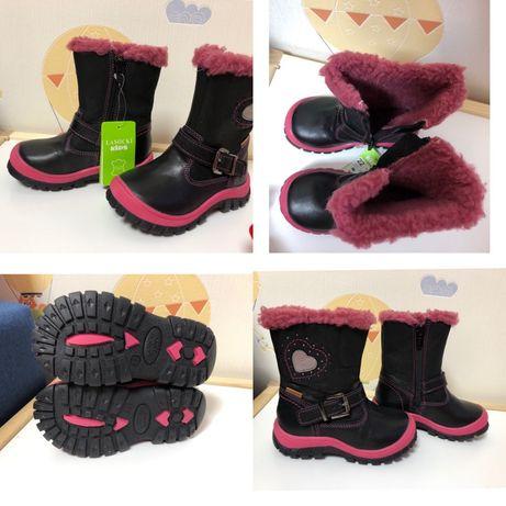 Детские Зимние сапожки,детская обувь,22 размер,кожаные сапоги