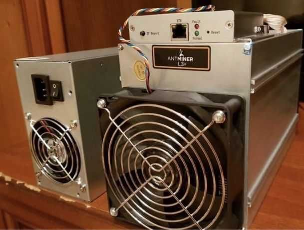 asic l3+ c блоком питания ( miner antminer bitmain bitcoin litecoin )