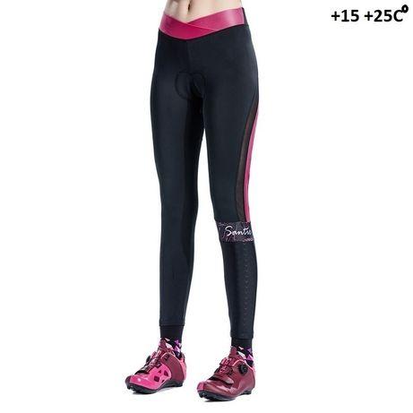 Велоштаны Santic женские с анатомическим памперсом, уровень PRO.