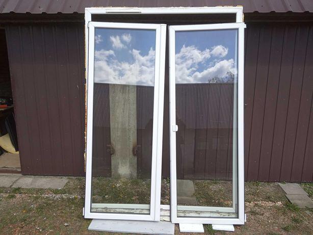 Okno balkonowe 2325 x 1765 dwa skrzydła balkon