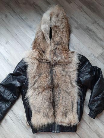 Кожаная куртка- жилетка.