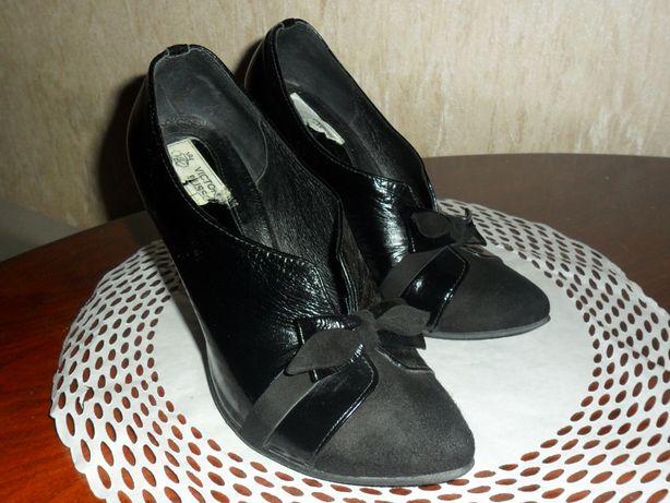 туфли ботинки ботильоны 37 кожа замш