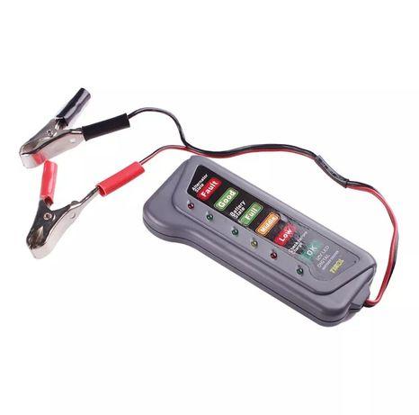 12v testador de bateria de carro 6 luzes led display ferramenta de dia