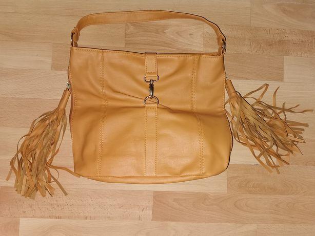 Damska torebka kolor Musztardowy