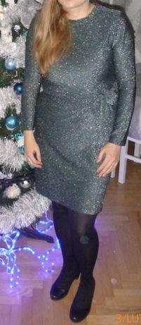Szałowa Sukienka Esmara Lidl srebrna błyszcząca Karnawał M L 38 40
