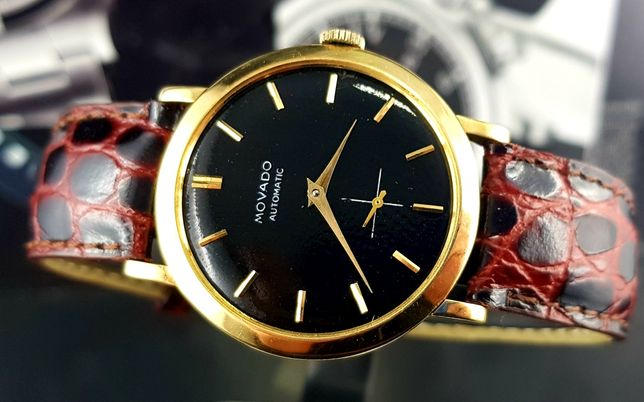Złoty zegarek Movado / Zenith Automatic Lata 50 Vintage XL  Unikat