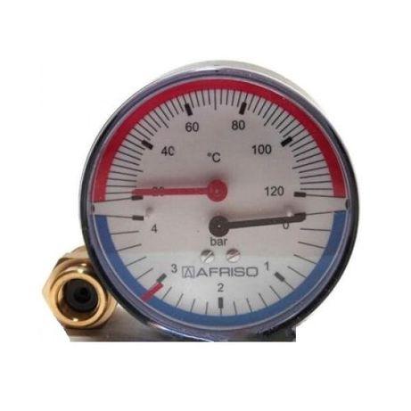 Термоманометр аксиальный Afriso ТМ 80 1/2 0-4 бар
