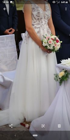 Sprzedam suknię ślubną rozm 36/38
