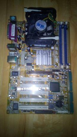 Материнка ATX Abit-IS7-E2+Проц с кулером+Память