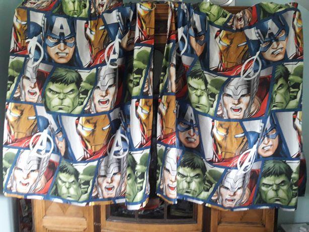 Zasłony zasłona MARVEL Avengers Iron Man Hulk Thor Kapitan Ameryka