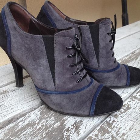 Buty zamszowe Venezia na szpilce roz. 37