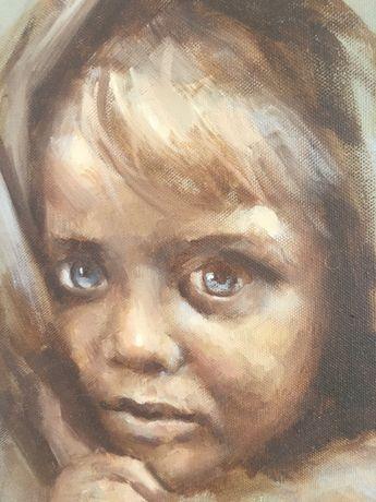 Dziecko - portret na płótnie 30x 40 cm