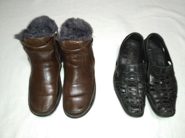 Кожаная обувь,на широкую ногу.размер 42-43 ,стелька 27,5